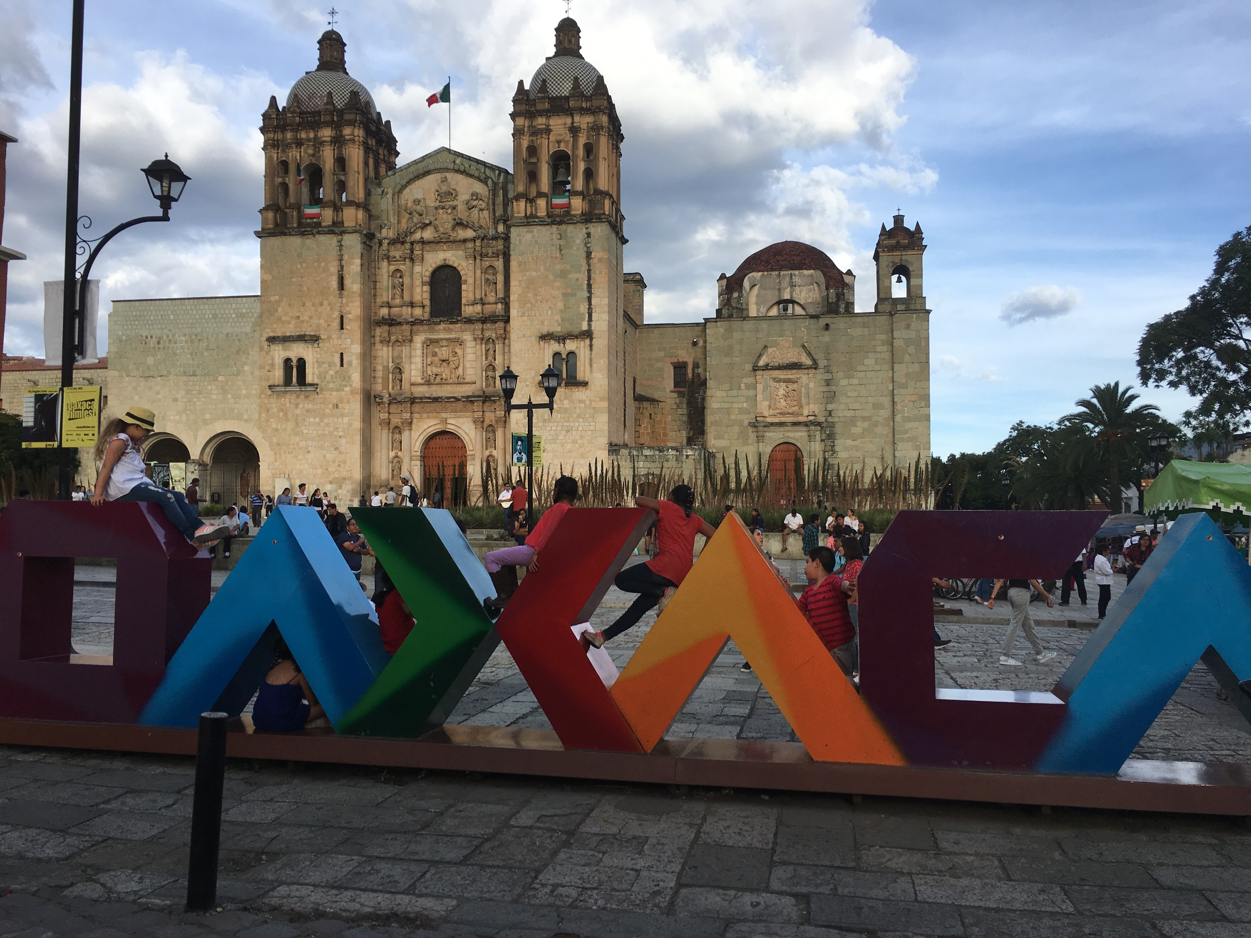 Oaxaca Mexico Town Square Sign