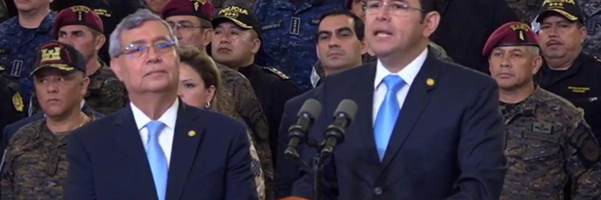 Guatemala President Morales press conference Aug 2018