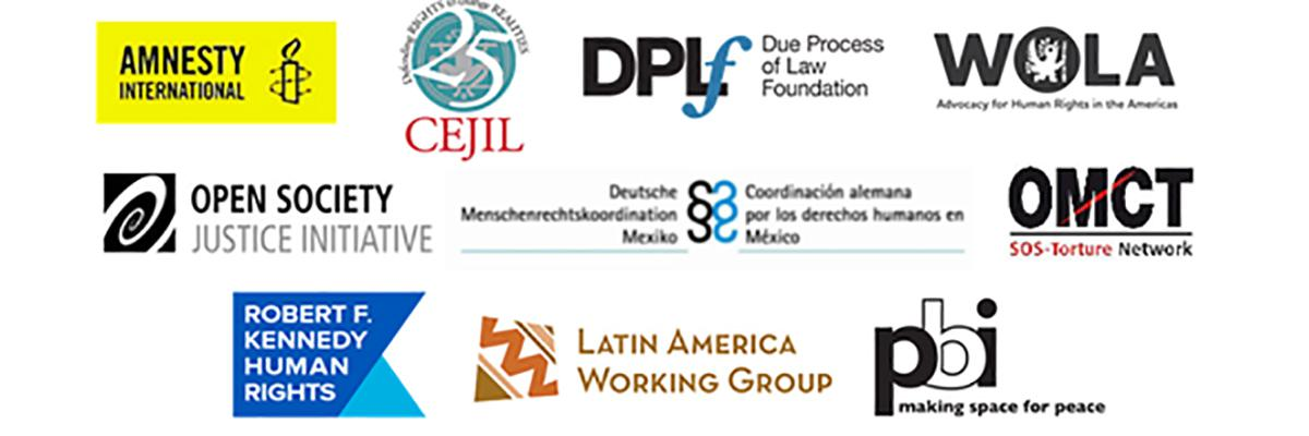 An image with the logos of the founding organizations of the International Observatory.