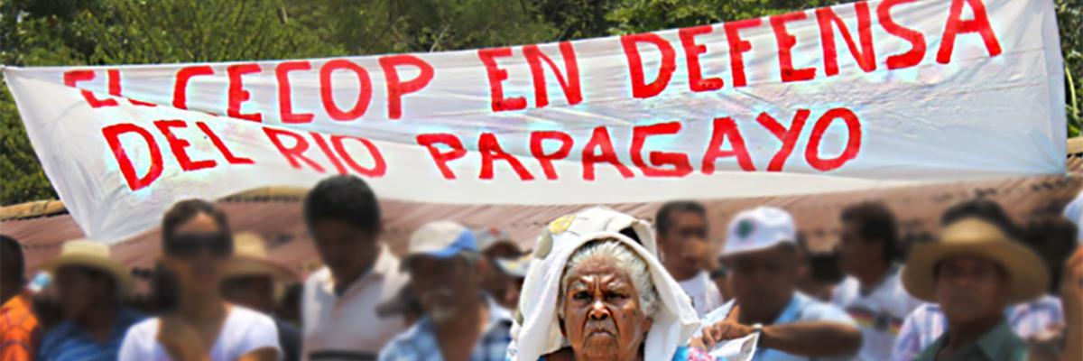 CECOP members march in La Concepción