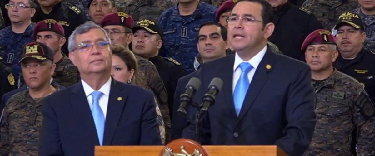 Guatemala President Morales press conference Aug 2018
